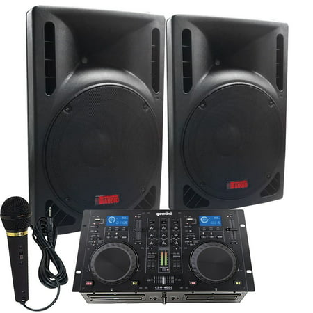 Starter Dj System - 1600 WATTS - Connect your Laptop, iPod, USB, MP3's or Cd's! 10