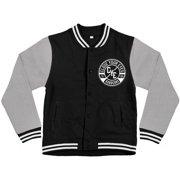 Close Your Eyes Men's  Core Varsity Jacket Black
