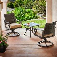 Royal Garden Milano Aluminum 3 Piece Outdoor Bistro Set