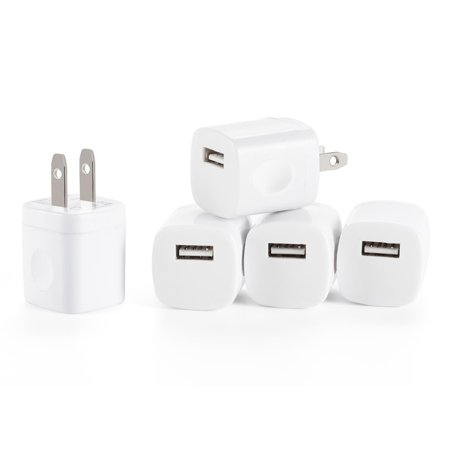 - Spark Wireless 5pcs USB AC Universal Power Home Wall Travel Charger Adapter for iPhone 7/7 Plus 6/6 PLUS Samsung HTC Compatible w/ iOS10 (White)