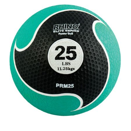 Champion Sports 25-lb Rubber Medicine Ball - Rhino Elite