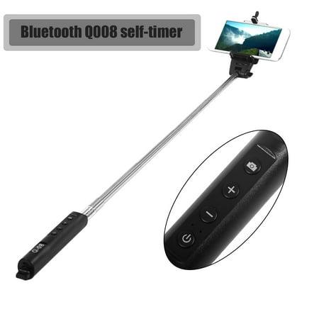 digital times bluetooth handheld selfie stick extendable monopod with zoom. Black Bedroom Furniture Sets. Home Design Ideas