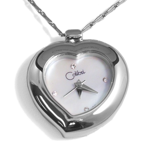 Colibri of London Silver Heart Shaped Watch Pendant with Gift Box