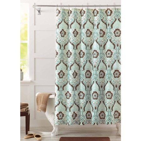 Better Homes and Gardens New Castle Fabric Shower Curtain - Walmart.com