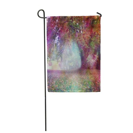 SIDONKU Fantasy Faerie Tree Landscape Big Multicolored Large Draping Branch in Ethereal Garden Flag Decorative Flag House Banner 28x40 inch (Faerie Tree)