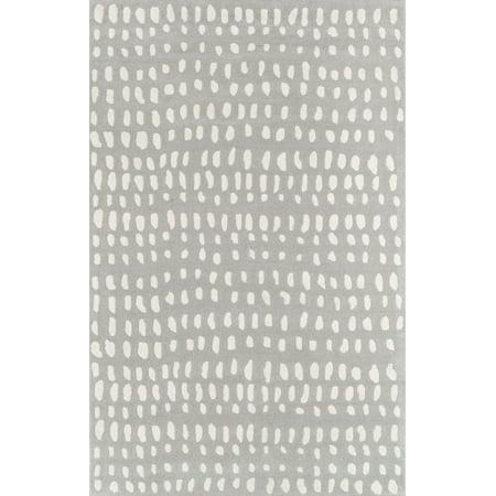 Momeni Delmar Boho Dots Hand Tufted Wool Grey Area Rug 2'3