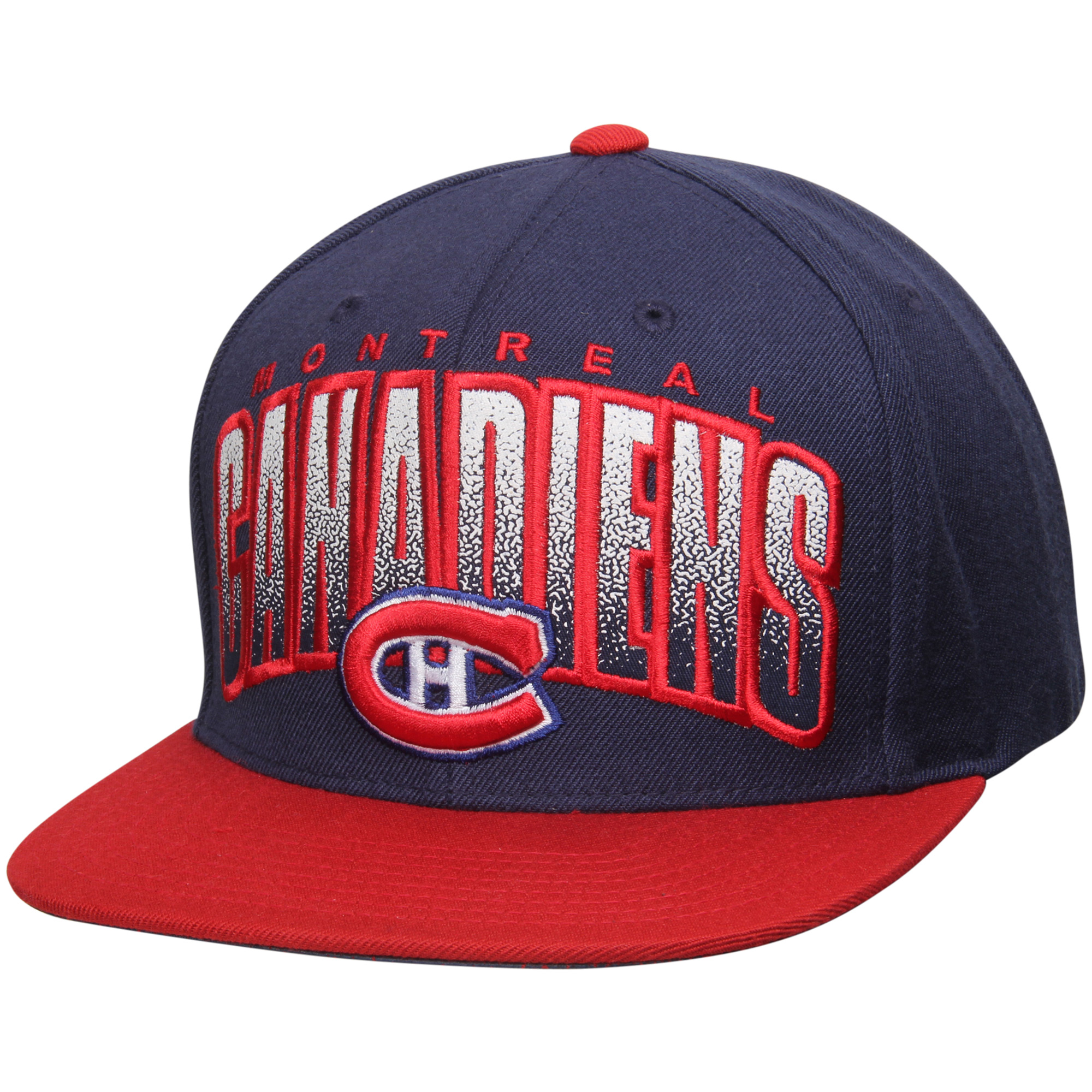 Montreal Canadiens Mitchell & Ness Current Logo Double Bonus Snapback Adjustable Hat - Navy/Red - OSFA