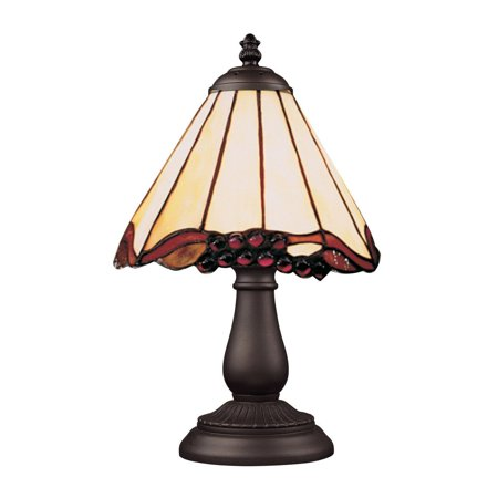 New Product  Mix-N-Match 1 Light Table Lamp In Tiffany Bronze And Honey Dune Glass 080-TB-03 Sold by VaasuHomes