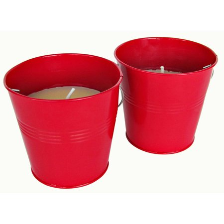 128 Oz Bucket (Patio Essentials 21108P-2 10 oz Citronella Candle with Bucket, Assorted, 2 Count )