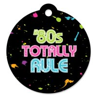 80's Retro - Totally 1980s Party Favor Gift Tags (Set of 20)