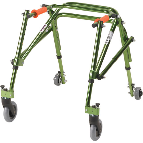Drive Medical Nimbo Rehab Lightweight Posterior Posture Walker, Junior, Lime Green