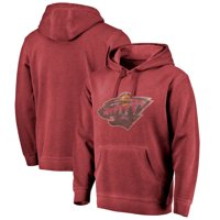 Minnesota Wild Fanatics Branded Shadow Washed Logo Pullover Hoodie - Garnet