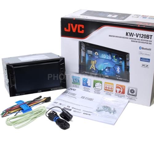 "JVC KW-V120BT 2-Din Bluetooth DVD/CD/USB Receiver with 6.1"" WVGA Touch Screen"