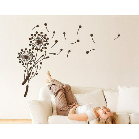 Little Dandelion Wall Decal floral wall decal sticker mural vinyl art