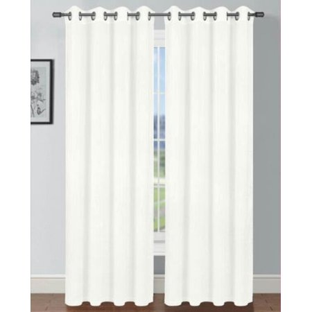 Set of 2 Andrea Taffeta Crushed Curtain Panels with Grommets, Semi Sheer, -