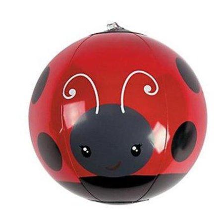 Fun Express 13659132 Vinyl Inflatable Mini Ladybug Beach Balls