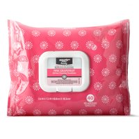 Equate Beauty Oil Free Cleansing Wipes, Pink Grapefruit, 40 Ct