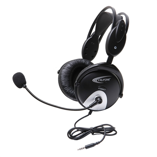 Ergoguys Califone Earbuds with Microphone & Mobile-Ready Plug. Stereo Headphones Designed for Language E3T