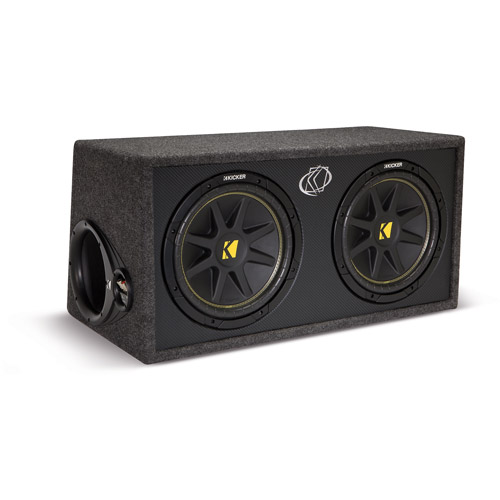 "Kicker DC12 Dual Comp 12"" 2-Ohm Subs in Vented Box"