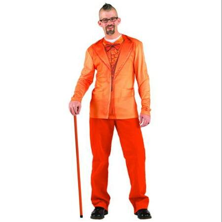 Faux Orange Tuxedo Costume T-Shirt Adult X-Large