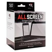 AllScreen Screen Cleaning Kit, 50 Wipes, 1 Microfiber Cloth