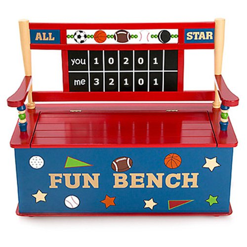 Levels of Discovery All Star Sports Toy Box Bench by LTD Online