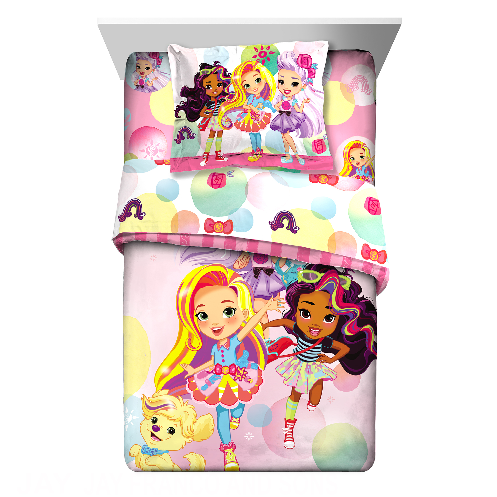 Sunny Day Sunny Bubbles 2 PC Kids Bedding Twin/Full Comforter with Sham