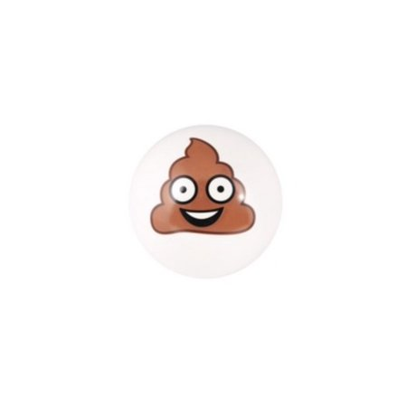 POOP EMOJI BALL - Inflated 4'' PVC Moody Play Ball - Durable - Fun - Non Toxic (Ball Emoji)