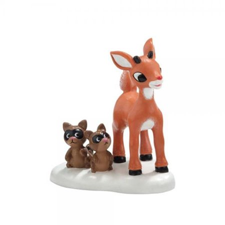 Department 56 North Pole Rudolph the Red Nosed Reindeer Series She Said I'm Cute Christmas Figurine (Rudolph Series)