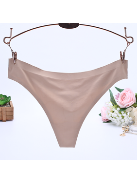 4c30377b9b7 Product Image Sexy Women Invisible Underwear Briefs G-Strings Ice Silk  Seamless Crotch WH XL