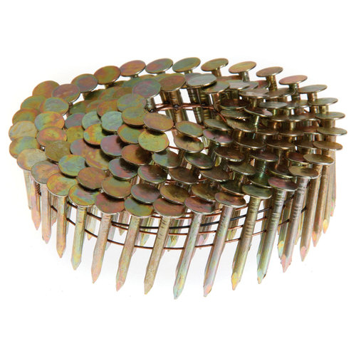 "Grip Rite GRCR3DGAL 1-1/2"" x .120"" Galvanized Coil Roofing Nails, 7,200-Count"