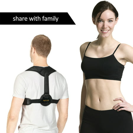 Liiva Back Posture Corrector for Men - Adjustable Posture Brace for Back Clavicle Support and Upper Back (Best Upper Back Support Brace)