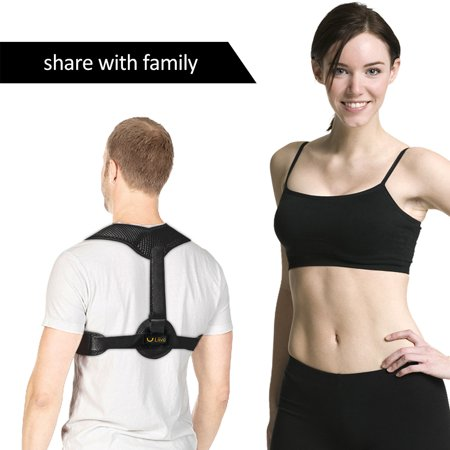 Liiva Back Posture Corrector for Men - Adjustable Posture Brace for Back Clavicle Support and Upper Back