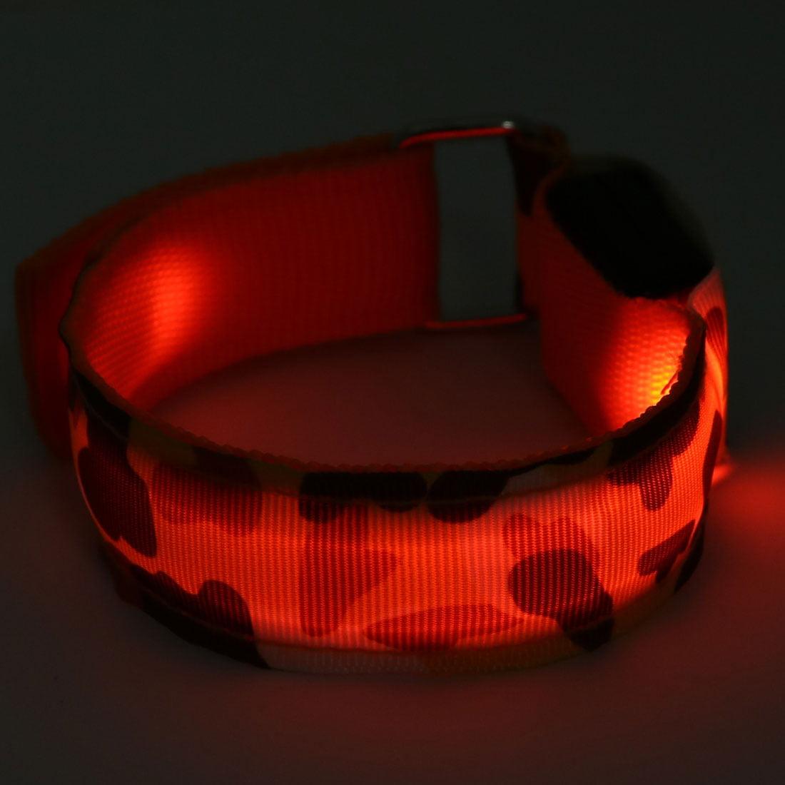 Running Safety Orange LED Camouflage Print Arm Band Wristband Light Up Armband - image 2 of 4