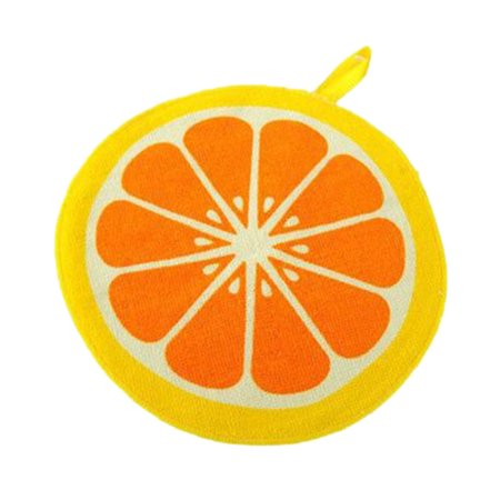 Jeobest 4PCS Kitchen Cleaning Cloth - Hanging Towels - Hanging Towel Quick-Dry Round Cute Fruit Shape Pattern Hanging Kitchen Hand Towels Dish Cloth Wiping Napkins Kitchen MZ(pattern: Oranges)