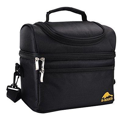 E-MANIS Insulated Lunch Bag Lunch Box Cooler Bag with Shoulder Strap for Men  Women d26b87bf6304f