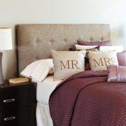 Mozaic Company Humble + Haute Stratton Beige Full Upholstered Tufted Headboard