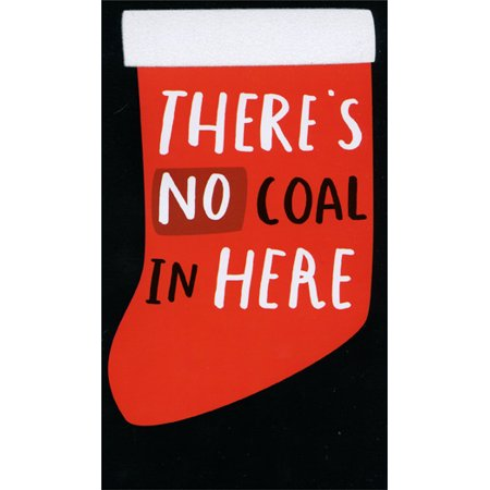 Recycled Paper Greetings No Coal In Here: Money / Gift Card Holder Funny Christmas Card