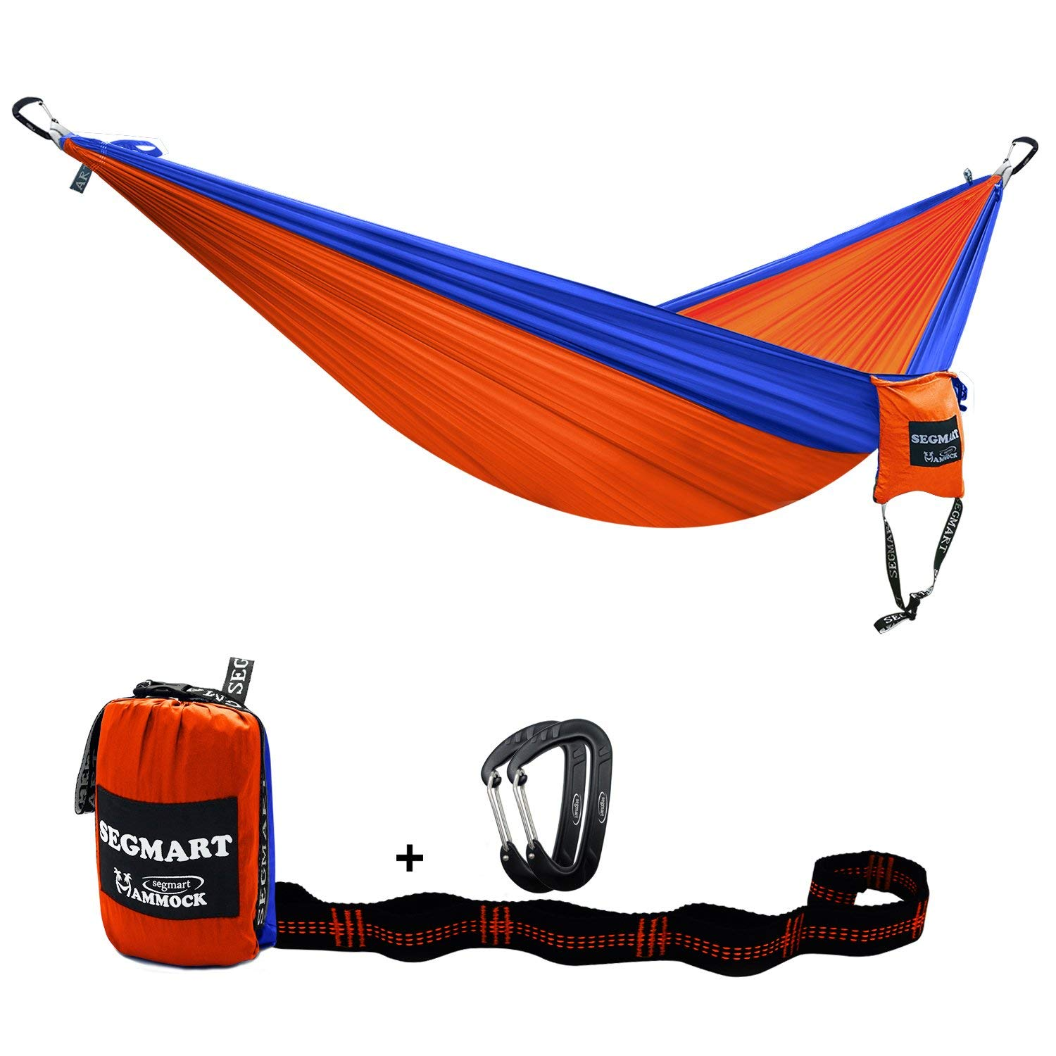 Outdoor hammock Double Hammock with Two Tree Straps & Carabiners, 600lbs
