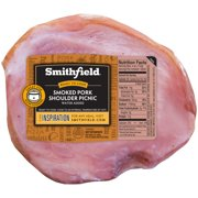 Smithfield Fresh Smoked Pork Shoulder Picnic Roast, No Artificial Ingredients, Ready to Cook