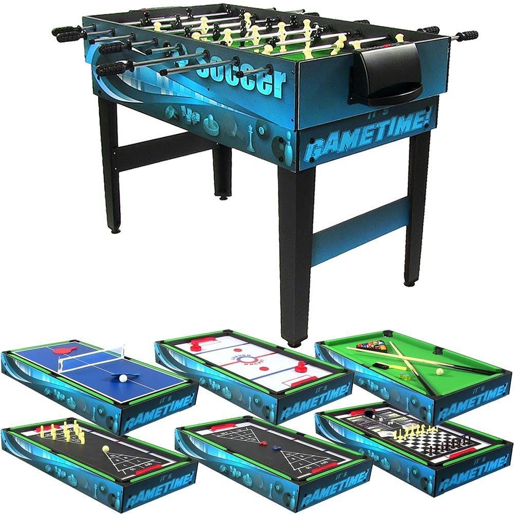 10 Combination Multi Game Table With Billiards, Push Hockey, Foosball, Ping Pong, and More, 40 Inch by BlackBeltShop