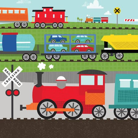 Oopsy Daisy - Canvas Wall Art Move Me By Train - Railway Traffic 10x10 By Vicky Barone ()