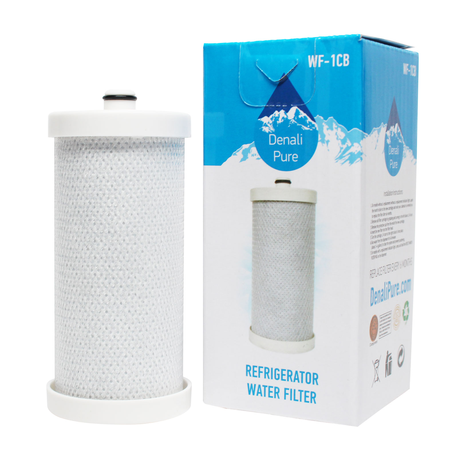 Replacement White Westinghouse WWSS2601KW1 Refrigerator Water Filter - Compatible White Westinghouse WF1CB, WFCB Fridge Water Filter Cartridge