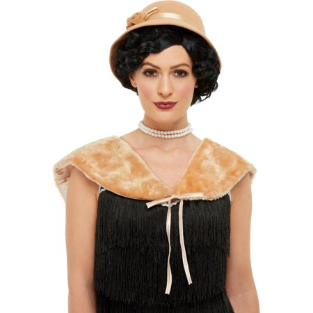 Roaring 20s Flapper Cream Hat And Stole Costume Accessory Set