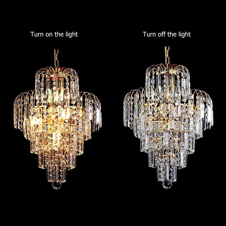 Click here to buy Ceiling Light Elegant Lamp Crystal Chandelier Light For Living Room Bedroom by YKS.