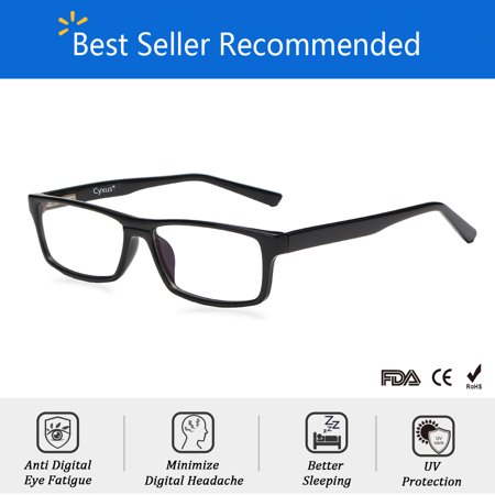 Cyxus Blue Light Blocking Computer Glasses with Spring Hinges for Anti Eye Fatigue Headache,Business Eyewear(non-reading