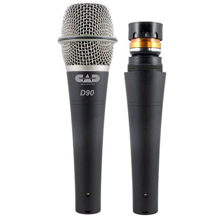 CAD Audio D90 Supercardioid Dynamic Mic x 2 +Mic Stand x 2 +Mic Cable x2 & More