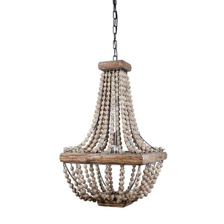 Creative co op metal chandelier with wood beads 165 square by 28 creative co op metal chandelier with wood beads 165 square by 28 height aloadofball Choice Image