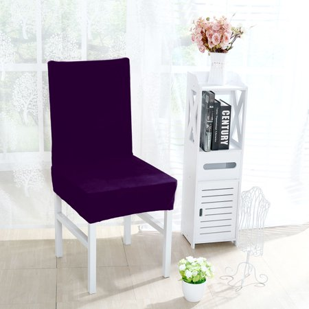 Unique Bargains Stretch Thicken Plush Short Dining Room Chair Covers  Protector Slipcovers