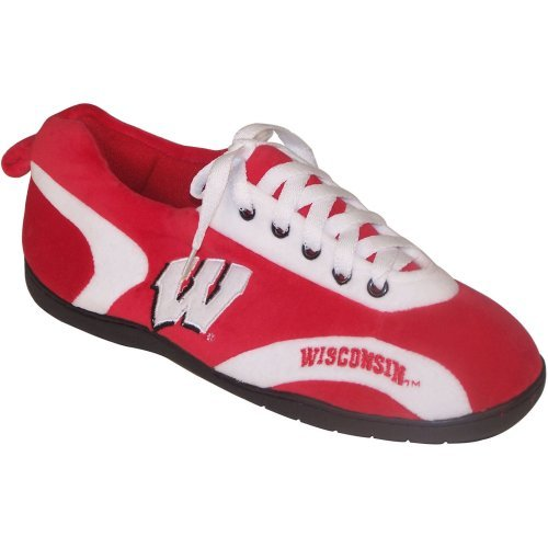 Comfy Feet NCAA All Around Youth Slippers - Wisconsin Badgers